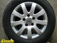 SET JANTE VW ORIGINALE 5 X 112mm MODEL MISSANO PE 15 CU ANVELOPE DE IARNA SAU VARA 195 65 15
