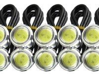 Set led lumini de zi / Set DRL / Set 2x1 leduri CREE cu lupa 12Watt