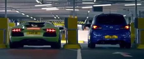 Singura confruntare in care un Opel Corsa e mai rapid ca un Lamborghini Aventador
