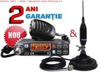 Statie radio Maxon CM70 cu antena Midland Picco 70C cu baza magnetica 120 DV inclusa