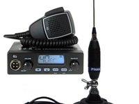 Statie radio TTi TCB 550 4W AM FM si antena Picco 70C cu baza magnetica inclusa