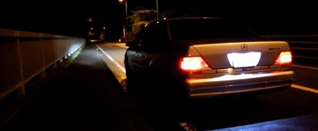 Sunetul Apocalipsei: Un Mercedes W140 terorizeaza strazile cu evacuarea sa custom