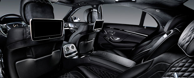 Te vei simti ca un rege pe bancheta din spate a acestui Mercedes S63 AMG