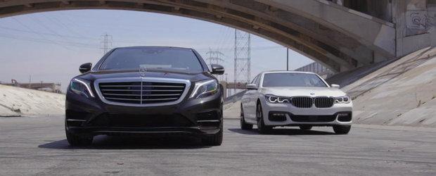Testul asta te va lamuri. Uite care este cea mai tare limuzina dintre Mercedes-ul S550 si BMW-ul 750i