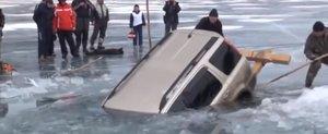 Trage masina la copca in Rusia!