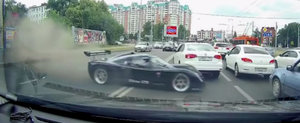 Ultima GTR este una dintre cele mai rapide masini din lume si daca o calci pe coada se intampla asta