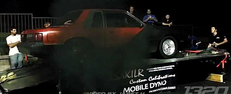 Un Ford Mustang diesel afuma concurenta la ilegale