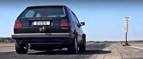 Un Golf Mk2 aparent stock ascunde are 1233 cp si face in sub 9s sfertul de mila