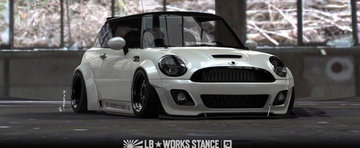 Un MINI Cooper modificat de Liberty Walk nu poate fi decat... nebunie curata