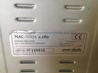 vand Statie Auto Audio Mac Audio, Mac-Ninja 2.180 perfecta 2x180 wats