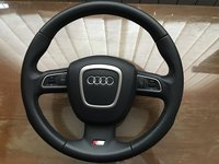 Vand volan AUDI S-line piele comenzi / airbag A3 A4 A5 A6 A8 S3 S4 S5 S6 S8