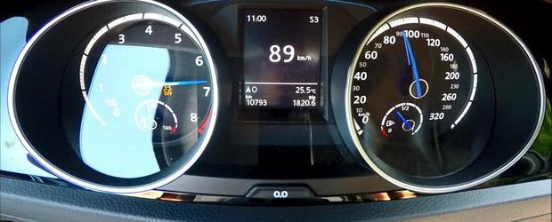 0 - 200 kilometri pe ora la bordul unui VW Golf de 400 CP