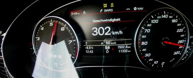 0 - 300+ kilometri pe ora la bordul unui Audi RS6 de 722 cai putere