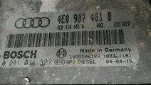 0281011327 calculator motor ecu 4e0907401b Audi A8...