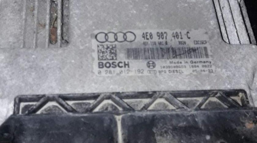 0281012192 calculator motor ecu 4e0907401c audi a8 3.0tdi asb 2002-09