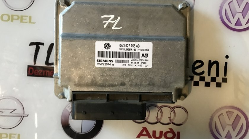 0AD927755AB, 0AD 927 755 AB calculator cutie automata VW Touareg 7L