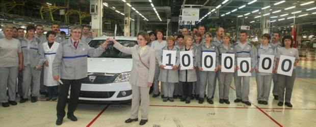 1.000.000 de vehicule Dacia Logan fabricate la Mioveni