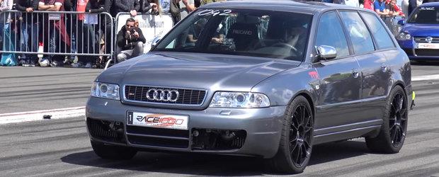 1.200 de cai si 303 km/h in doar 800 de metri. Cu asta se lauda acest Audi S4 break