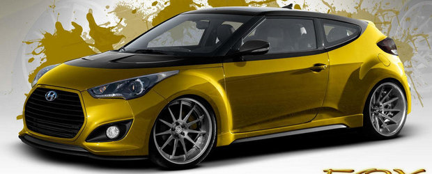 1.6 turbo. 370 cai putere. Hyundai Veloster. Fox Marketing. SEMA 2013!