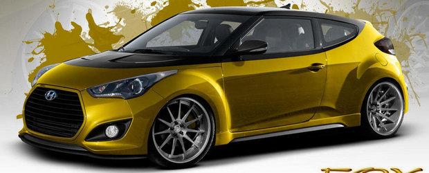 1.6 turbo. 370 cai putere. Hyundai Veloster. Fox Marketing. SEMA 2013!