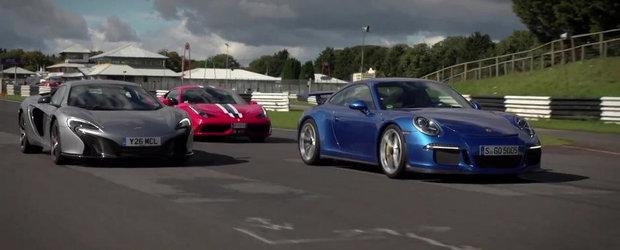 1.730 CP in actiune: Ferrari 458 Speciale vs Porsche 911 GT3 vs McLaren 650S