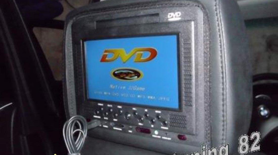 1000 Lei Perechea! Tetiere NEGRE Cu Husa Dvd Player Usb Sd Divx Jocuri Modulator Fm Joystick WIRELESS