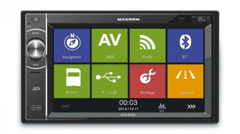 1099 LEI!!! NAVIGATIE MULTIMEDIA MACROM M-DL5000 2DIN USB SD PLAYER GPS CARKIT
