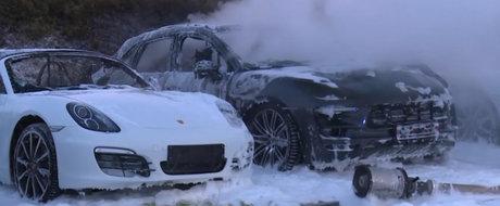 12 Porsche-uri s-au facut scrum in curtea unei reprezentante. De vina ar fi protestatarii de la Summit-ul G20