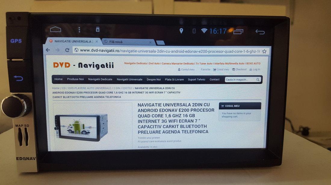 1499 LEI!!NAVIGATIE UNIVERSALA 2DIN CU ANDROID EDONAV E200 PROCESOR QUAD CORE 1,6 GHZ 16 GB 3G WIFI
