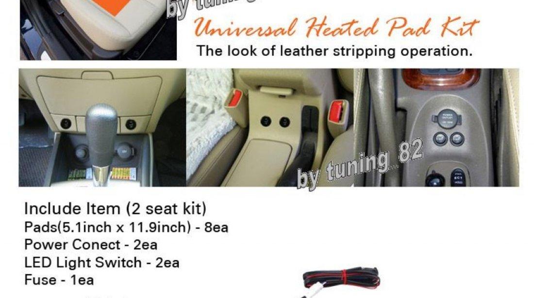 150 LEI ! Kit Incalzire In Scaune Auto Keetec CSH1 Carbon Butoane OEM 2 Pozitii Montaj Profesional In Toata Tara