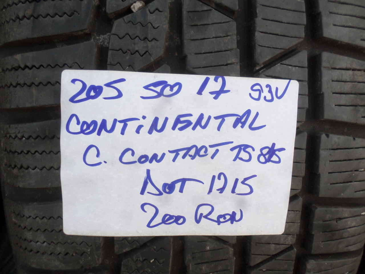 205 50 17 Iarna Continental ContiWinterContact ts815 Seal inside