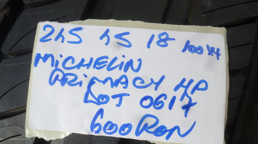 245 45 18 Vara Noua  Michelin  Primacy hp o bucata