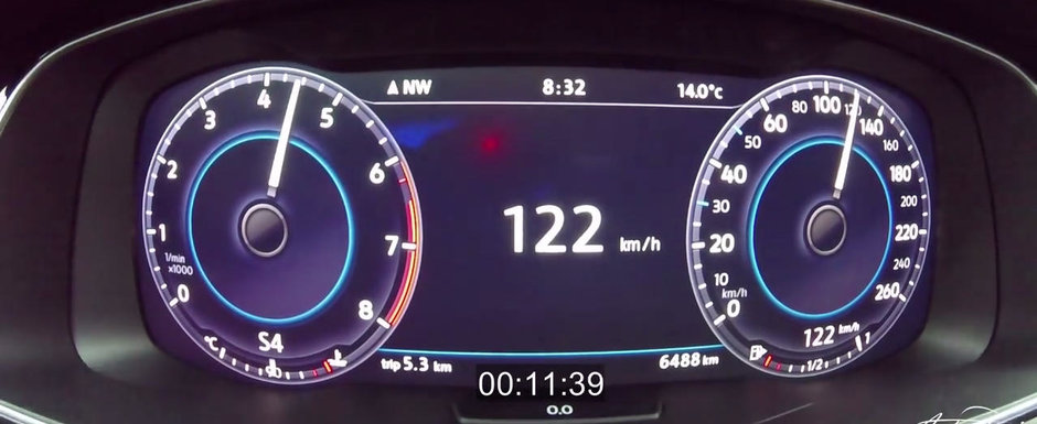 3, 2, 1, START! Test de acceleratie cu noul Volkswagen Golf 1.5 TSI Evo