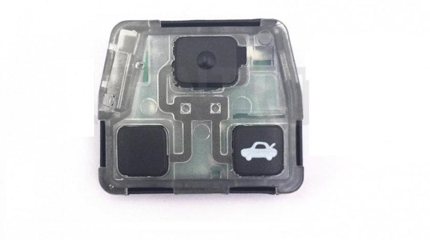 3 butoane pentru carcasa cheie auto TO-123, compatibil cheie Toyota