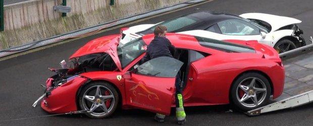 3 Ferrari au de suferit dupa ce ploaia strica un eveniment privat in Belgia