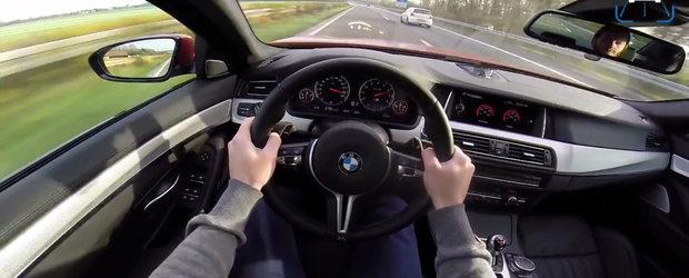 310 km/h la bordul unui BMW complet stock