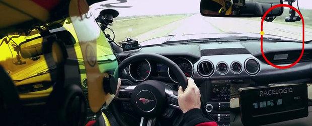 314 kilometri pe ora la bordul unui... Ford Mustang