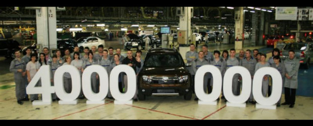 4.000.000 vehicule Dacia fabricate la Mioveni