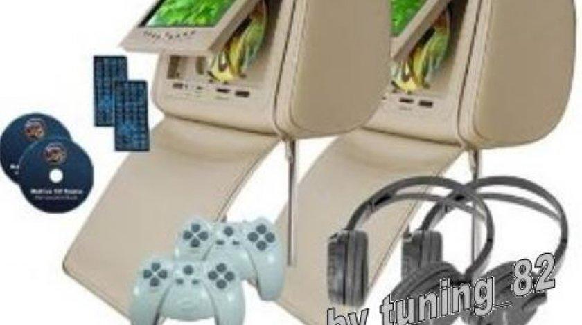499 LEI! Tetiere CU DVD PNI HD 700 A Y Crem Cu Husa ANTIFURT PLAYER Dvd Usb Sd LENTILA SONY Divx Jocuri Modulator Fm JOYSTICK WIRELESS MODEL 2013
