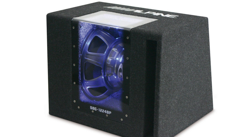 """599 LEI! SUBWOOFER AUTO ALPINE SBG-1224BP TIP BAND PASS 30 CM (12"""") 250W RMS PUTERE MAX. 800W"""