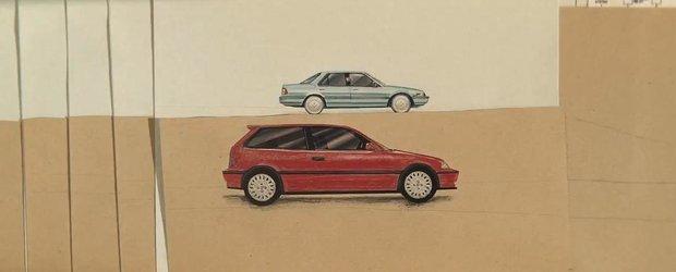6 decenii de istorie Honda intr-un clip video realizat 100% din... hartie