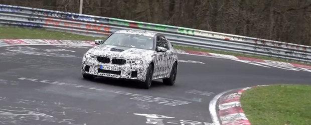 600 CP in actiune. Noul BMW M5, surprins in teste la Nurburgring