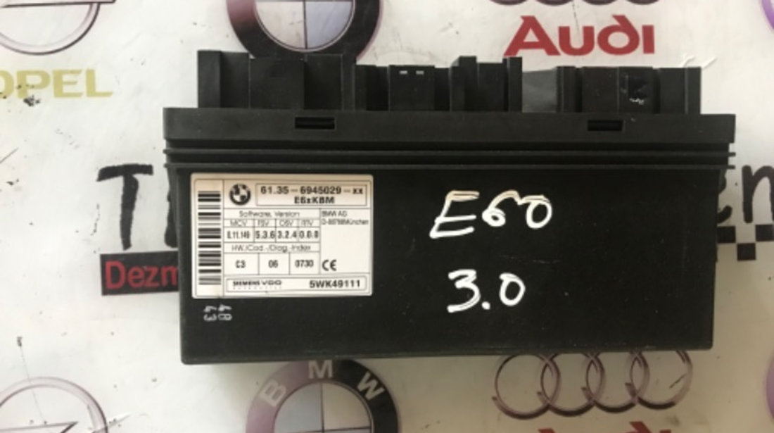 62.35-6945029 calculator BCM BMW E60 seria 5