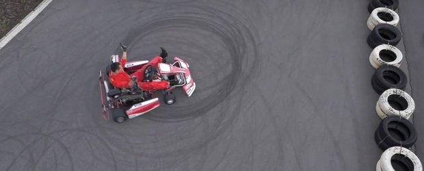 6PLIN ne arata cum se fac drifturile cu un kart si un pilot profesionist