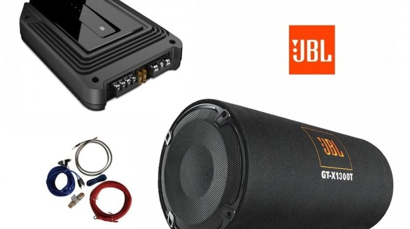 799 LEI! Pachet de BASS cu Tub JBL GT-X1300T + Amplificator GX-A3001 + KIT Cabluri AIV 350940 CADOU!