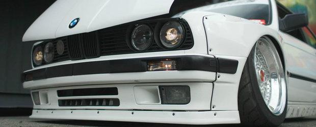 A avut curajul sa puna un bodykit Rocket Bunny pe un BMW E30. Cum arata acum