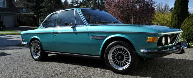 A castigat mai multe premii la concursurile de eleganta iar acum se vinde. Cat costa acest BMW 3.0 CS