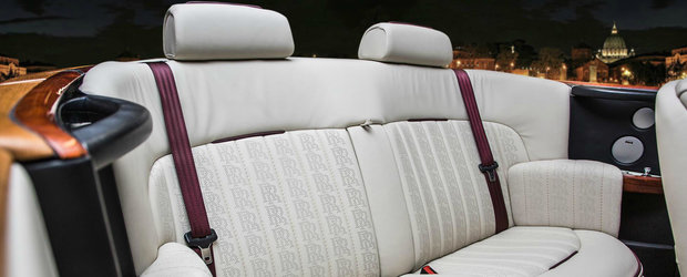 A condus pana in Bulgaria pentru un nou interior la Rolls. Cum arata acum cabina decapotabilei britanice de lux