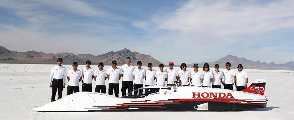 A doua oara a fost cu noroc. Honda a batut un record mondial de viteza cu un motor de 660 de centimetri cubi