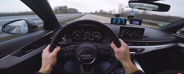 A dus noul Audi A4 pe autostrada si a calcat pedala de acceleratie la podea. Cat a prins diesel-arul cu 272 de cai